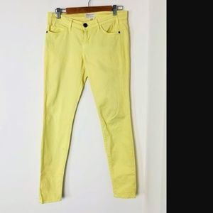 Current Elliott Lemon Mellow Yellow Skinny Jeans